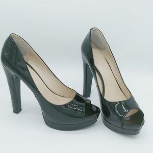 Black Patent Leather Peep Toe shoes!